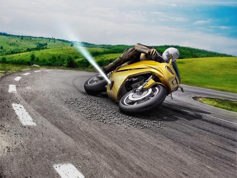Принцип «Замена механической силы» в стабилизаторе мотоцикла